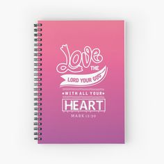 Promote | Redbubble Mark 12 30, Your Heart, Notebooks, Promotion, Lord, Christian, Notebook, Christians, Laptops