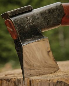 «Finnish Splitting Maul. Heavy duty. Ready to chop some firewood! #axe #handmade…