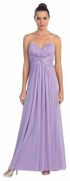 Lilac Stretch Formal Dress