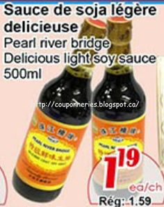 Coupons et Circulaires: 1,19$ Sauce Soya 500ml