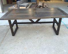 BOLD de fer récupéré moderne & Mt Whitney Table à par BlakeAvenue