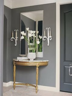 Grey entrance hall