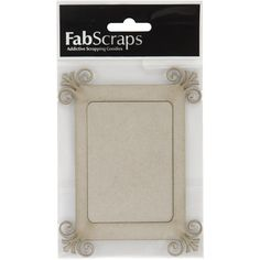 Fabscraps Die-Cut Chipboard Embellishment, Fancy Frame with Mounting Board, 4.5 by 4.3-Inch