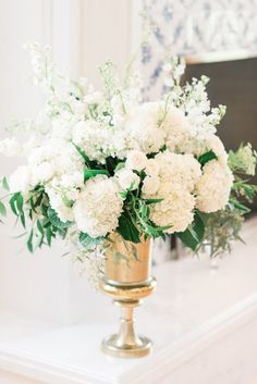 Ren + Negin's Destination Utah Wedding Flowers White Hydrangea Centerpieces, Hydrangea Arrangements, White Centerpiece, Hydrangea Bouquet, Wedding Flower Arrangements, Blush Wedding Flowers, Rose Wedding, Wedding Hire, Wedding Ceremony