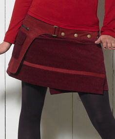 1a021aa75e6 Look at this Red Buckle Wrap Skirt on  zulily today! Mini Skirts