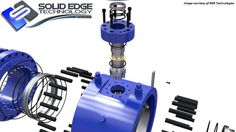 350 NB Class 600 MS Ball Valve. Rendered by Solid Edge Technology. Modeled in Solid Edge by RGR Technologies.