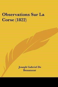 Observations Sur La Corse (1822)
