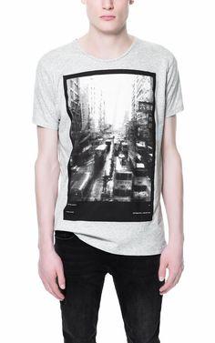 HONG KONG PRINT T-SHIRT - T-shirts - Man - ZARA Canada
