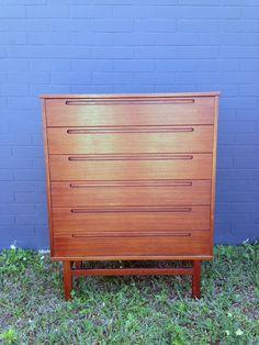 Teak Dresser by Nils Jonsson made by HJN Mobler by junk2funkbiz, $850.00