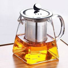 1 Pc Coffee pot Short Mouth Transparent Kettle with a filter for Tea Enthusiasts