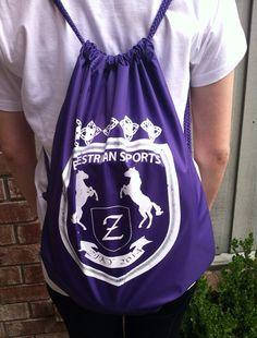 Ringside Backpack Sling Bag or Equestrian Helmet Bag on Etsy, $22.50