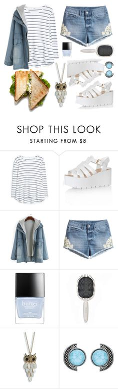 """""""Lunch Outfit"""" by crimsonteardrop ❤ liked on Polyvore featuring MANGO, Glamorous, H&M, Butter London, Earth Therapeutics and Aéropostale"""