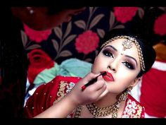 MUA: Sania   Beautiful indian bride bold and striking wedding makeup  Red lipstick