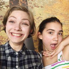 Rowan Blanchard with her friend