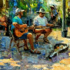 Farmers Market - Musicians original fine art by Julie Ford Oliver Artist Gallery, Fine Art Gallery, Ford, Boat Art, Julie, Figure Painting, Medium Art, Art Music, Figurative Art