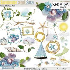 Summer And Sea Embellishment Mini