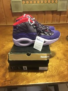 19c6156c427fde Reebok Men s Question Mid Ghost of Christmas Future Basketball Shoe Purple  12M