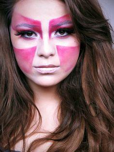 High fashion. #futuristic #tribal #beauty #cinema #makeup #school #cms