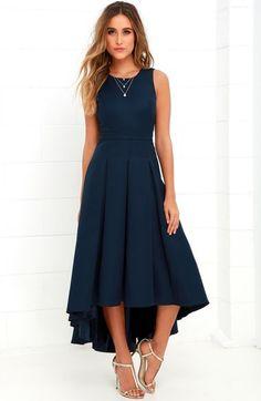 Main Image - Lulus Cutout Back Tea Length High/Low Dress