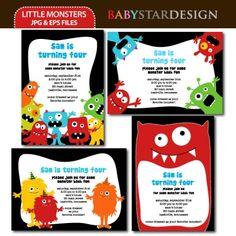 little monster invitations