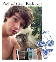 """""""Pool w/ Cam"""" by monafce ❤ liked on Polyvore featuring H&M, MAKE UP FOR EVER, Luvvitt, Abercrombie & Fitch and CameronDallas"""