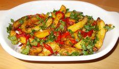 Zomerse Aardappelreepjes Uit De Oven Met Paprika En Lente-ui