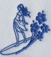 Surfer Girl Embroidery Design.***Research for possible future project.
