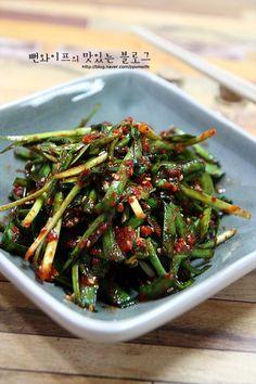 초간단 부추김치 담그는 방법 : 네이버 블로그 Instant Pot Asian Recipes, Easy Asian Recipes, Korean Recipes, Korean Traditional Food, Best Korean Food, Korean Side Dishes, Pork Belly Recipes, K Food, Light Recipes