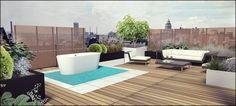 Rooftop Garden design 3D #timothy cools design#tuinarchitectengroep eco belgium tuinontwerp