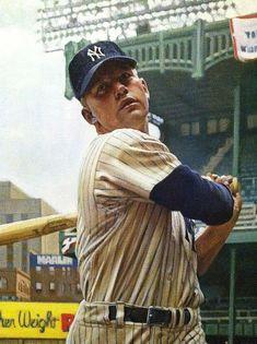 Mickey Mantle at Yankee Stadium Baseball Classic, Baseball Star, Sports Baseball, Baseball Cards, Football, New York Yankees Baseball, Yankees Fan, Mlb Players, Baseball Players