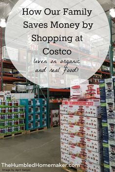 We save so much money on real food by buying in bulk and shopping at Costco! This is a great list of healthy foods you can find at Costco!