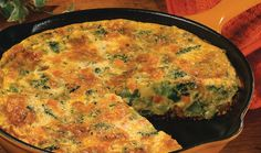 Broccoli-Cheddar Frittata - Incredible Egg