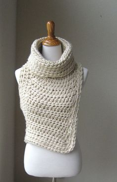 HUNTRESS COWL VEST Crossbody Cowl // Chunky Knit by marianavail, $95.00