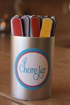 Chore Jar ~ tutorial with printables