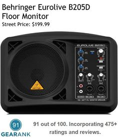 This Is One Of The Highest Rated Powered Stage Monitors. Features