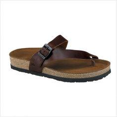 Classy flip flops, with the Birkenstock foot bed benefits.