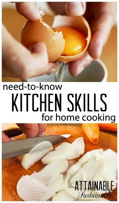 Kitchen skills - knife skills - how to cook at home