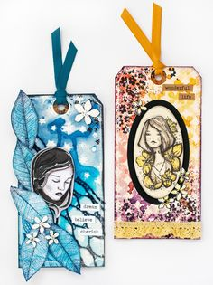 3rd Eye DT: Olivia and Elyse #Tags #Papercrafting