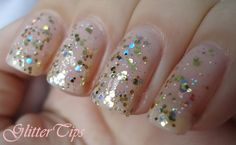 Barry M - Yellow Topaz Glitter over Barry M - Nude