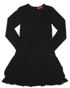 ZieZoo longsleeve jurk met laagjes antraciet