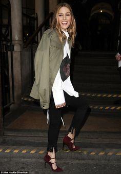 Olivia Palermo - Markus Lupfer Fall 2017 presentation - London Fashion Week -  February 18, 2017   #FW17 #LFW