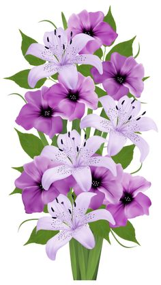 Purple Decorative Bouquet PNG Clipart
