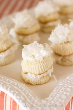 Skinny Mini Coconut Cakes with Coconut Meringue Frosting