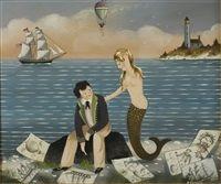 Mermaid with artist von Ralph Eugene Cahoon Jr.