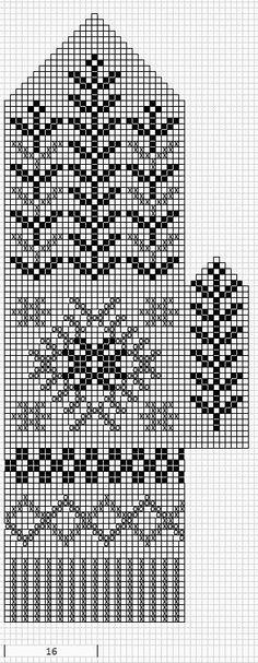 Mustrilaegas: A Kudumine / Knitting Knitting Charts, Knitting Socks, Knitting Stitches, Knitting Patterns Free, Stitch Patterns, Knitted Mittens Pattern, Crochet Mittens, Knitted Gloves, Knit Stranded