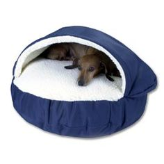 Solutions - Snoozer ™ Cozy Cave - Small. My precious wiener dogs would love this!