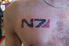 N7 tattoo from mass effect.