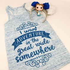 Adventure awaits! Tees & tanks available at http://GlitterEverAfter.com