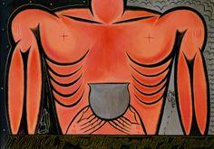 José Bedia, Mama quiere menga, menga de su nkombo (Mama Wants Blood, Blood of His Bull), 1988.