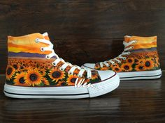 9dd3c17941b51d WEN Original Design Sunflower Shoes Floral Converse Floral Shoes Painted  Shoes